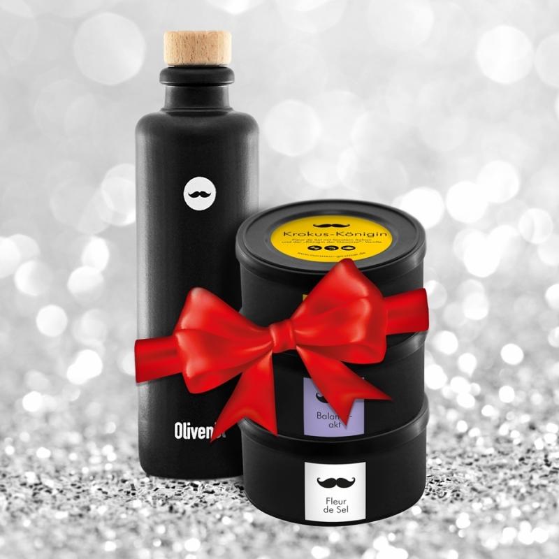 Geschenkset: Öl + Salz