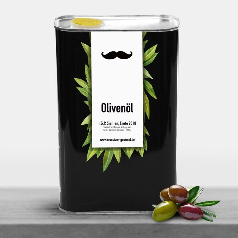 Olivenöl in der 1l Vorratsdose